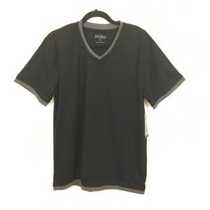 Galaxy by Harvic Men's Black with Gray T-Shirt
